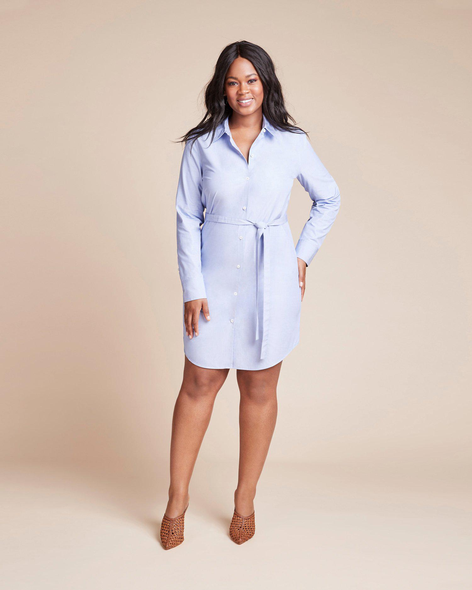 121a994c81 Theory Clean Shirtdress in Blue - Lyst