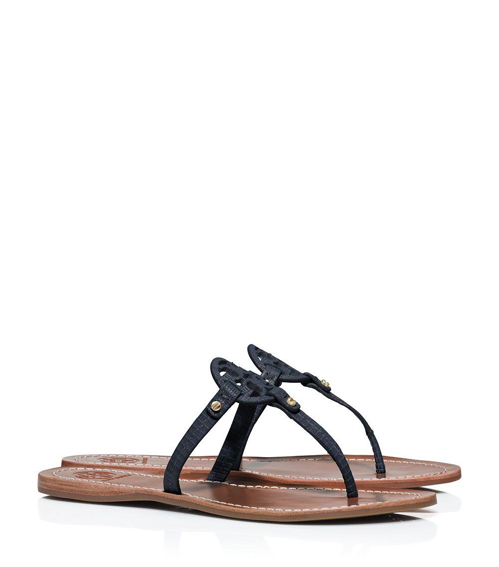 c9501739969 Tory Burch Mini Miller Flat Thong Sandal in Blue - Lyst