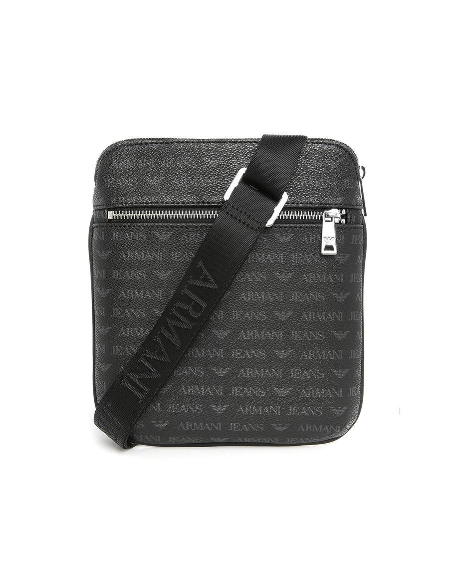 f63fb835d69e Armani jeans Black Aj Logo Small Format Zipped Bag in .