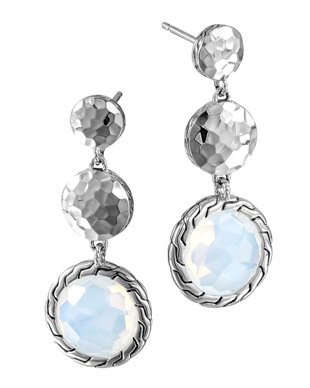 John hardy batu palu silver triple drop earrings in for John hardy jewelry earrings