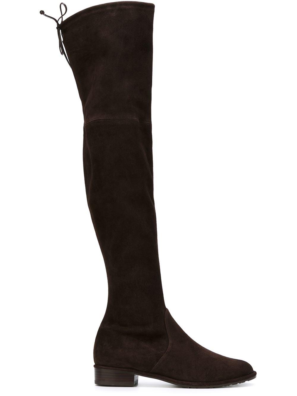 Stuart Weitzman Lowland Boots In Brown Lyst