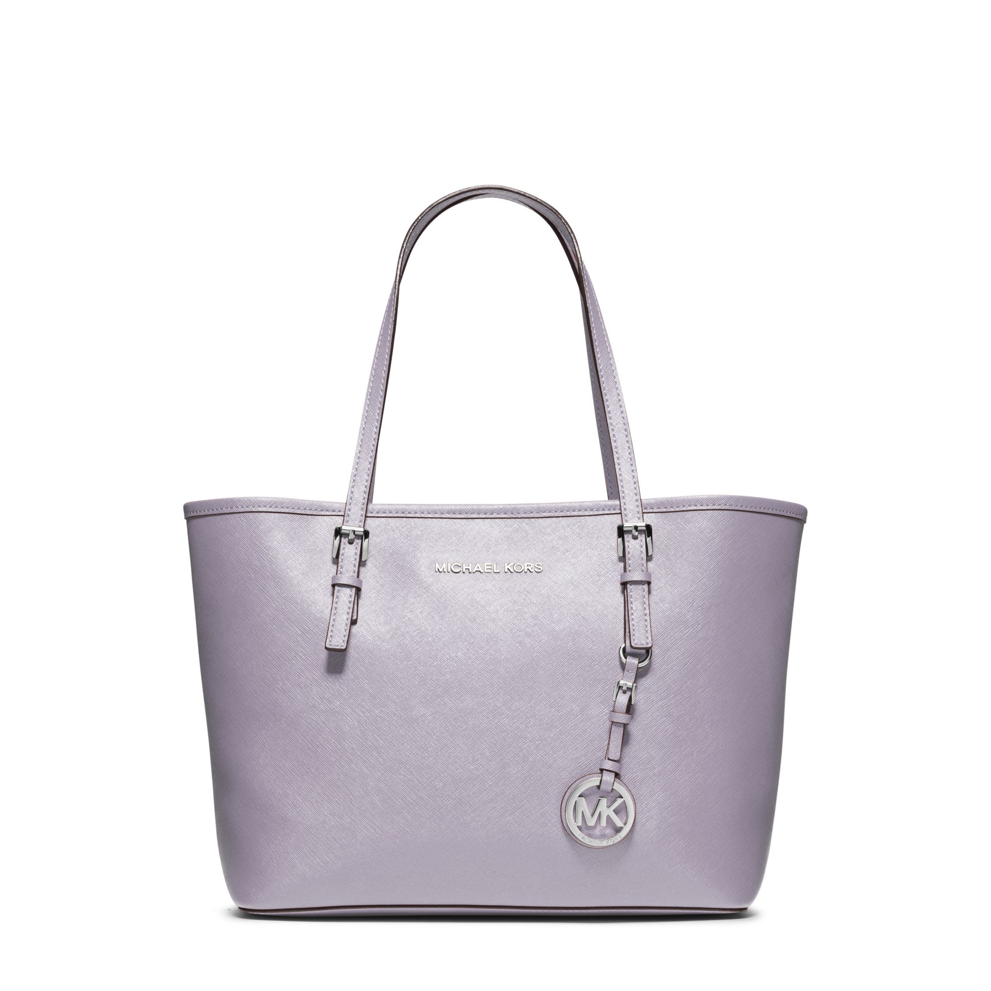 890c7eb4f748 Michael Kors Jet Set Travel Small Saffiano Leather Tote in Purple - Lyst