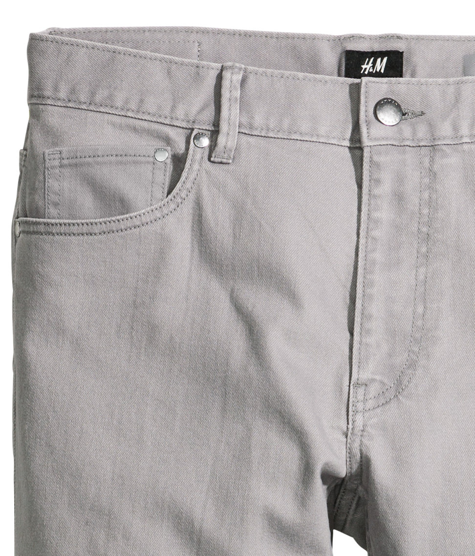 b18e9576974 Lyst - H M Twill Trousers Skinny Fit in Gray for Men