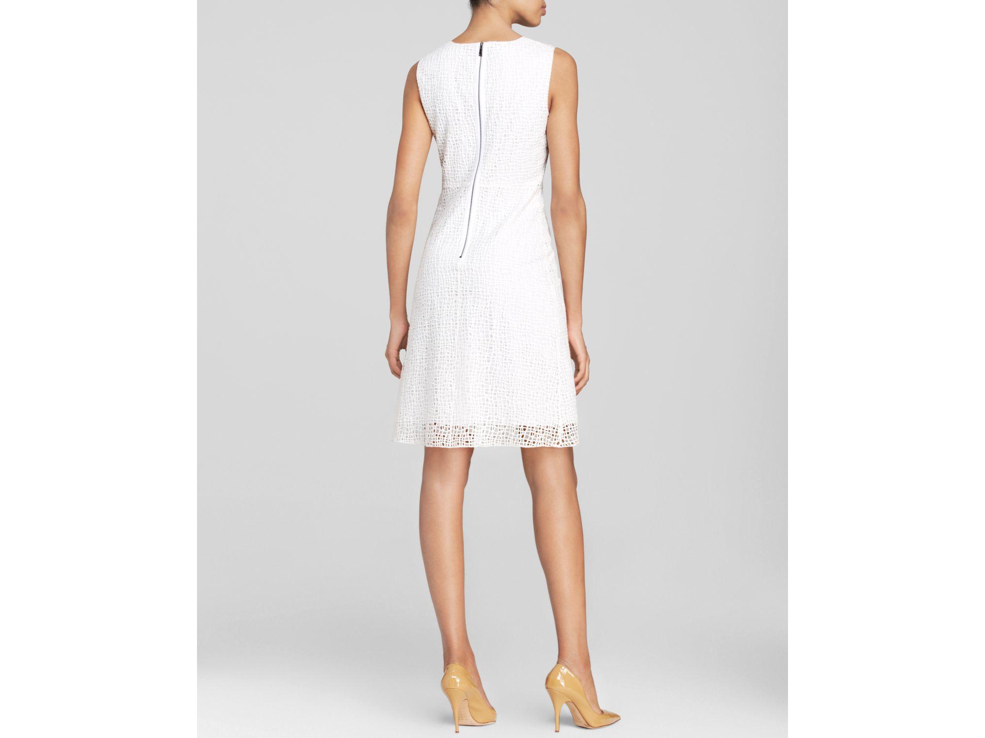 f69493bedf Elie Tahari Dress - Ophelia Sleeveless Lace in White - Lyst