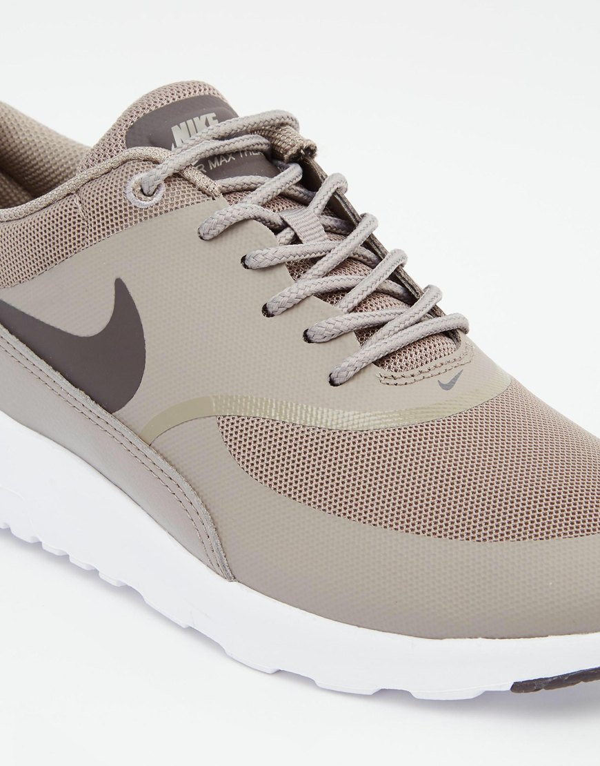 nike air max thea grey trainers in gray lyst. Black Bedroom Furniture Sets. Home Design Ideas