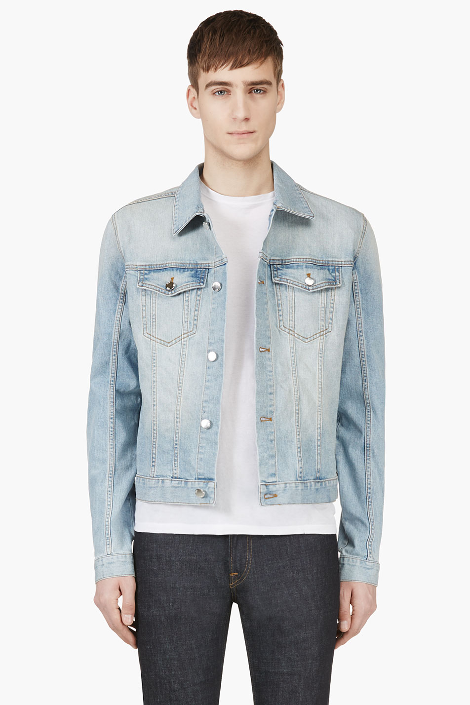 Blk dnm Light Blue Faded Denim Jacket in Blue for Men | Lyst