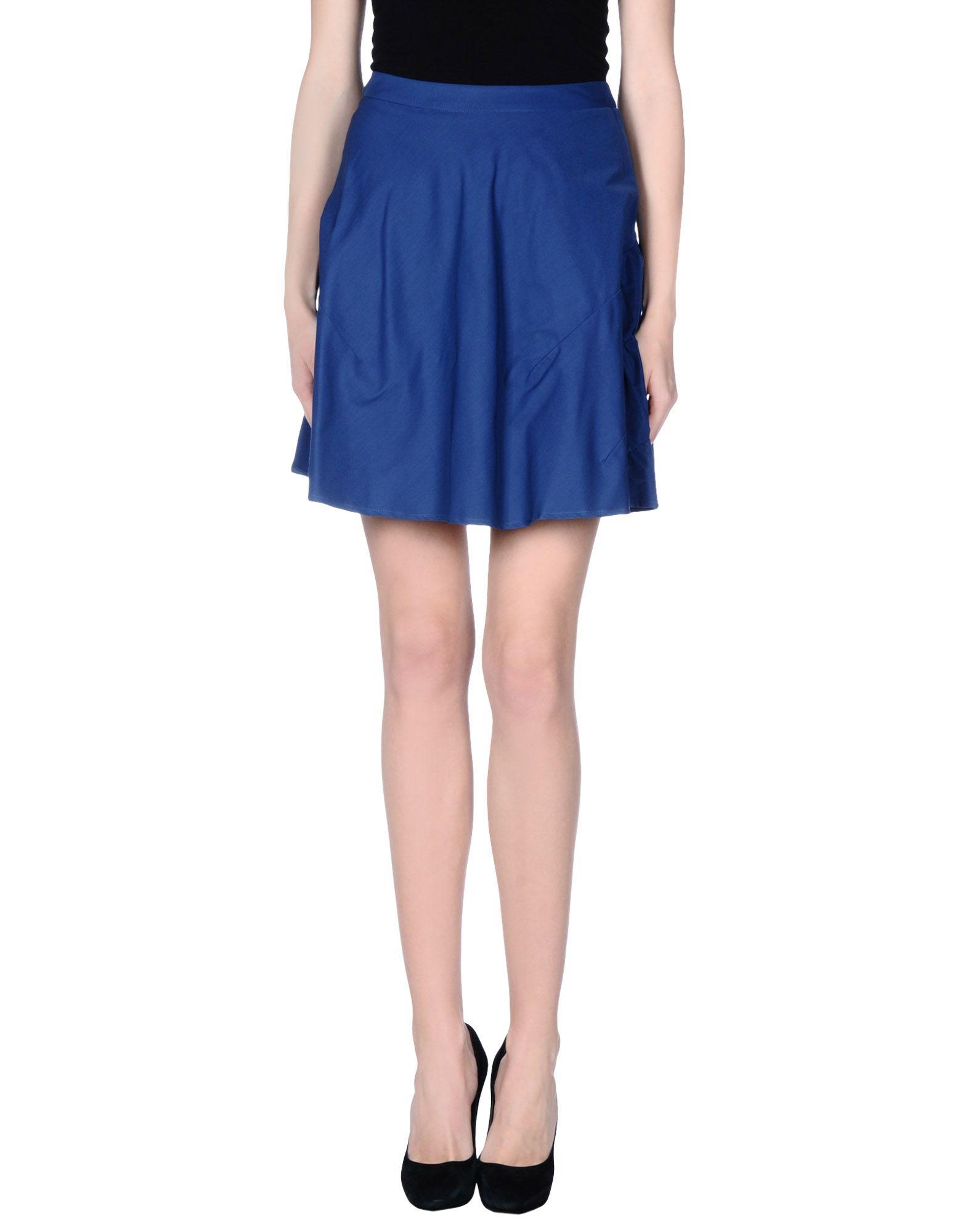 gattinoni knee length skirt in blue lyst
