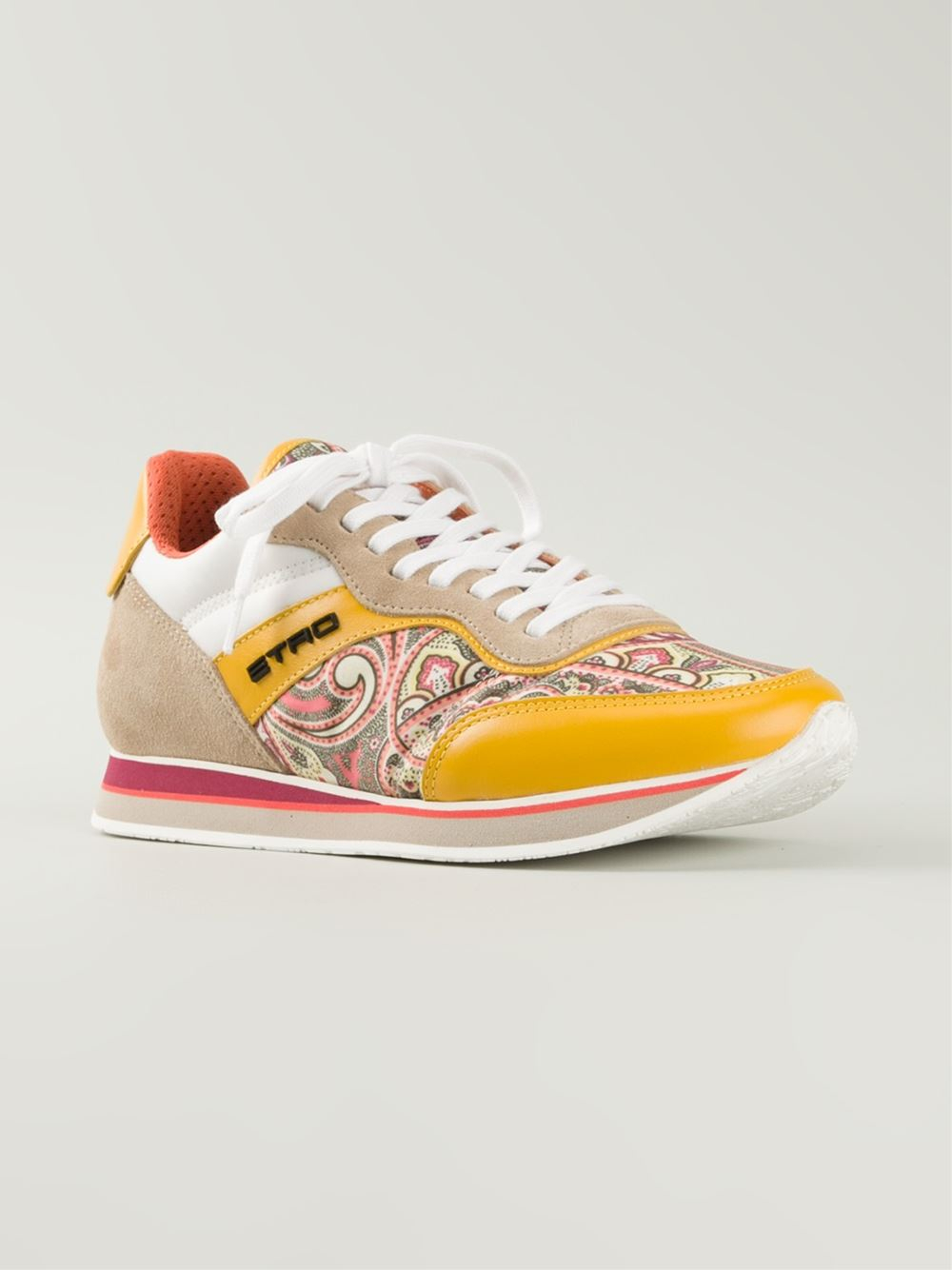 Paisley High Top Tennis Shoes