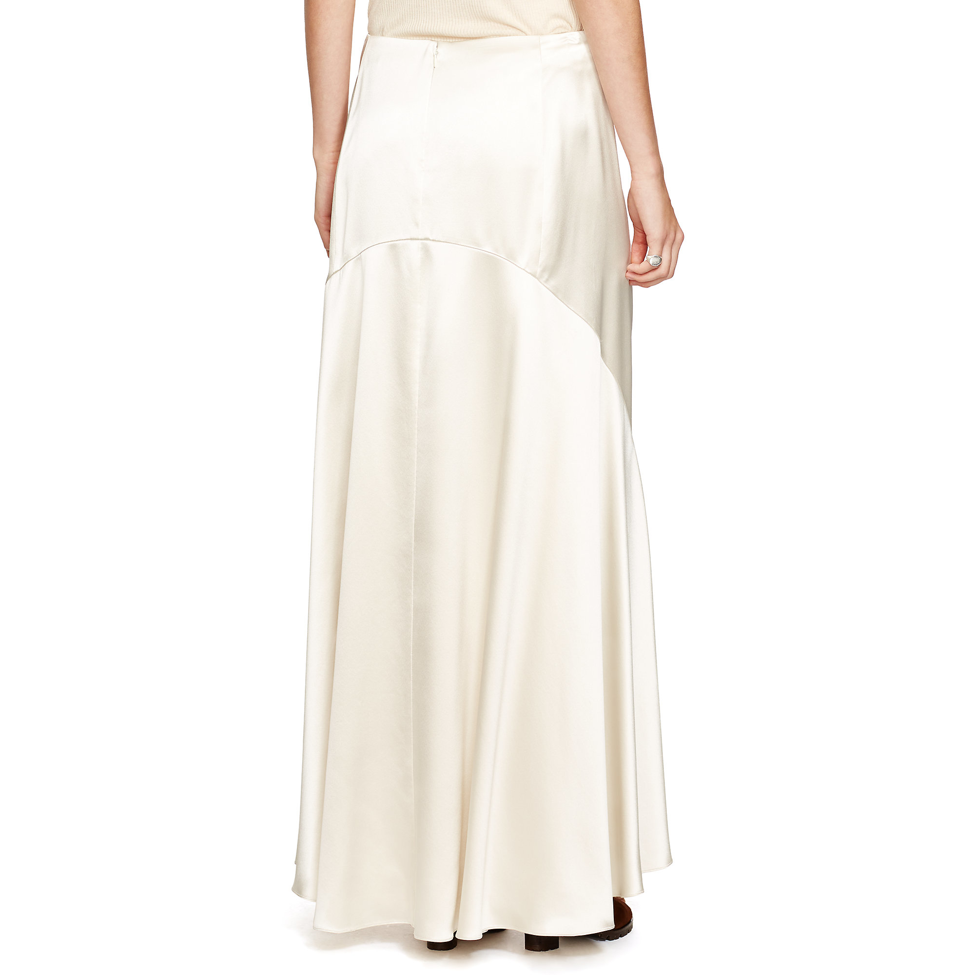 Polo ralph lauren Silk Maxiskirt in Natural | Lyst