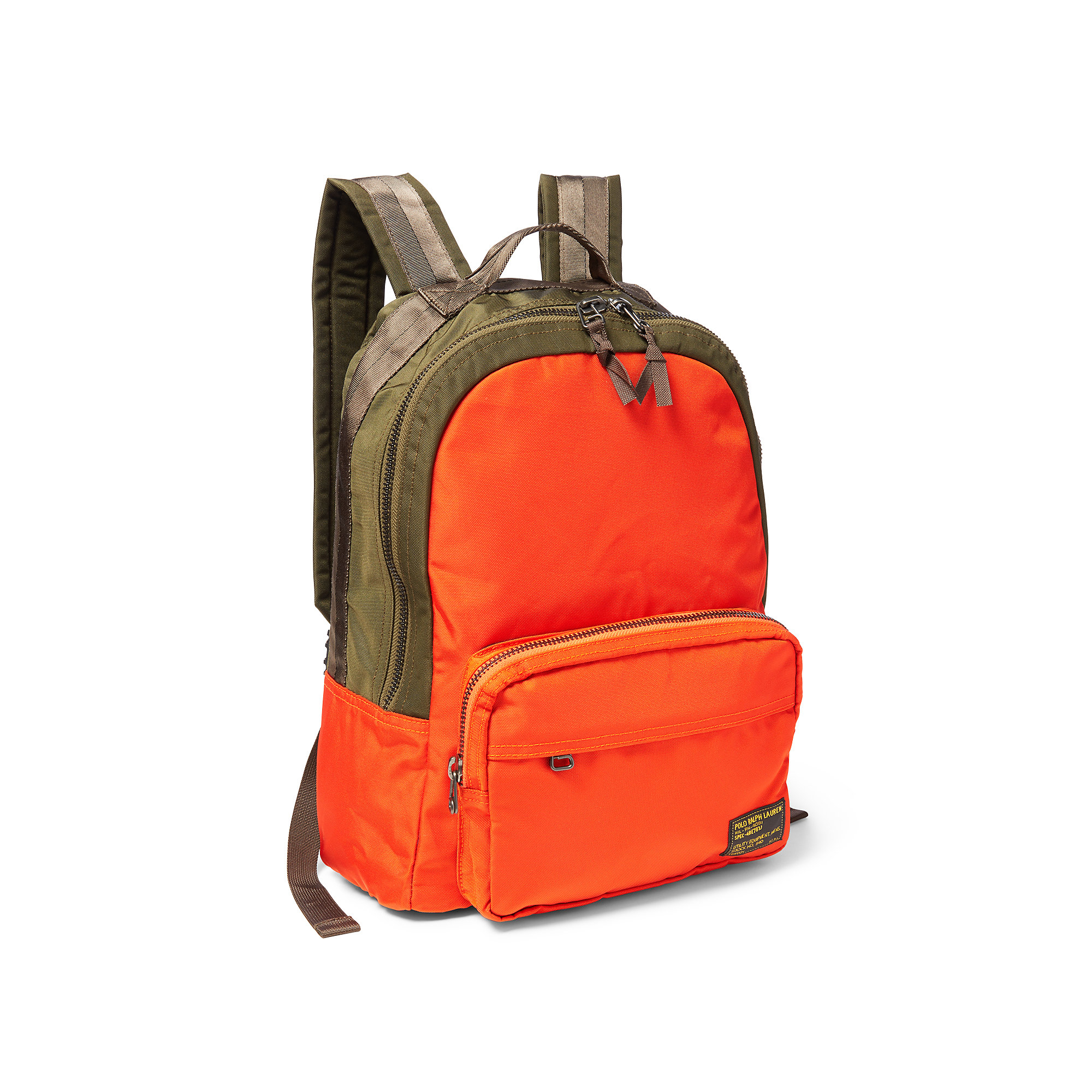 ccf77a8c9f Polo ralph lauren orange ulitility green military nylon dome backpack  orange product normal jpg 2000x2000 Lauren
