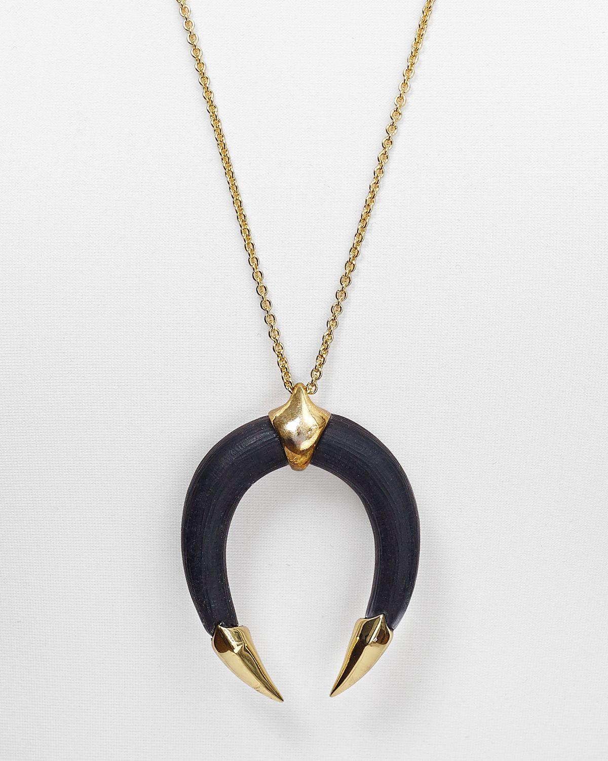Lyst alexis bittar lucite pyramid capped horseshoe pendant gallery aloadofball Image collections