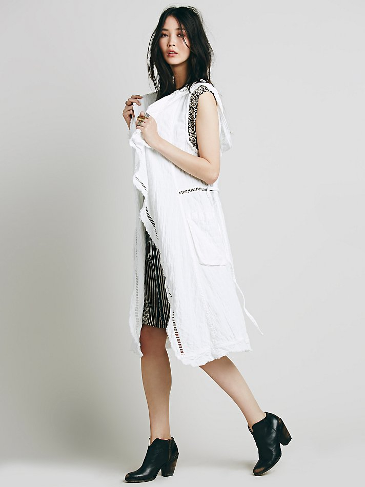 Lyst Free People Womens Beachy Linen Duster In White