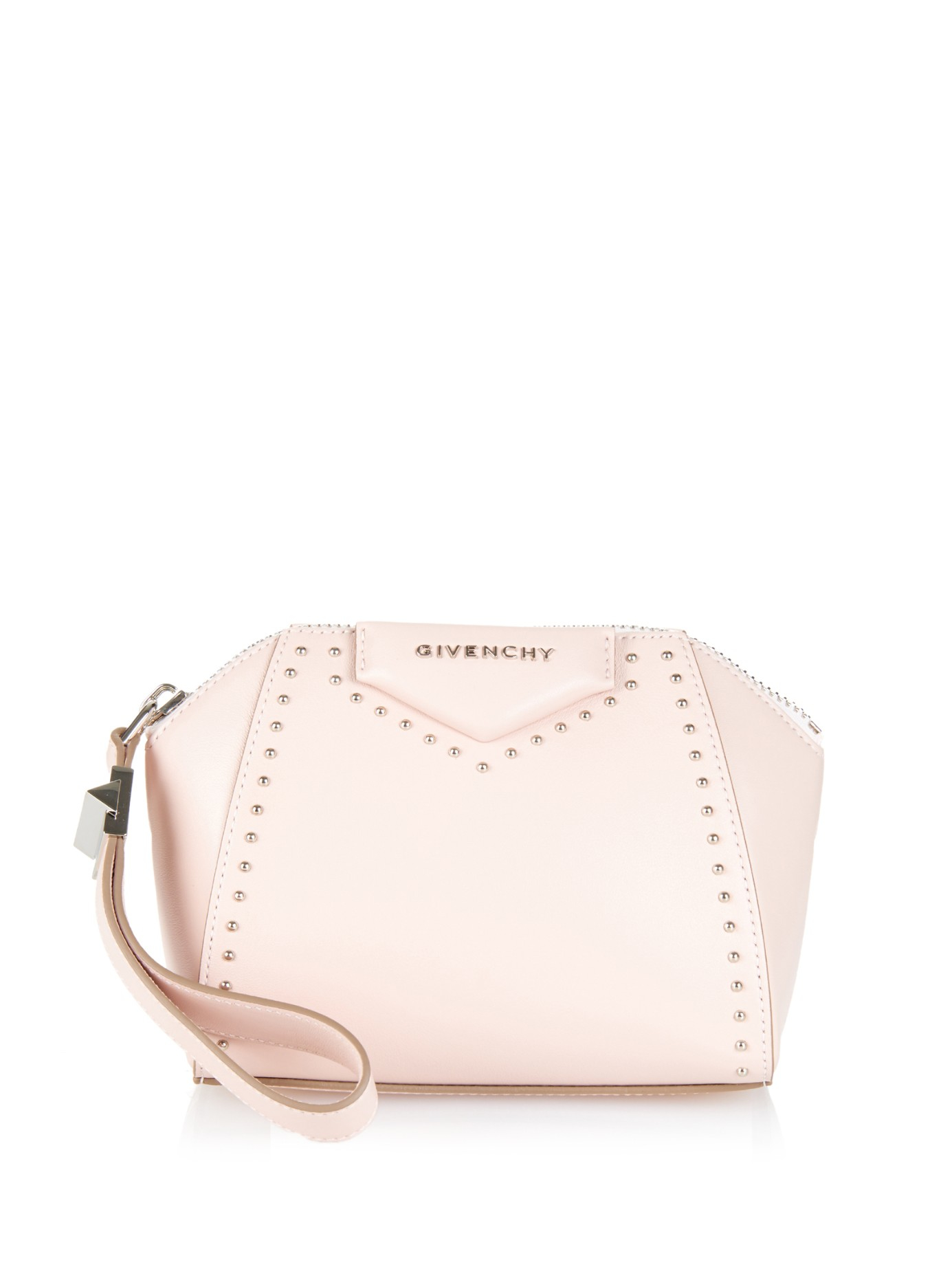 Givenchy Antigona Beauty Studded Leather Clutch in Pink | Lyst