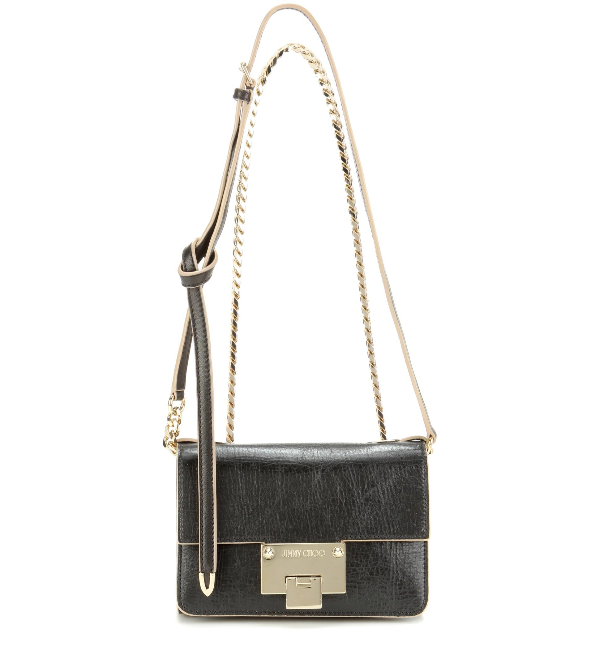 e24954e7cab Lyst Jimmy Choo Rebel Soft Mini Leather Shoulder Bag In Black