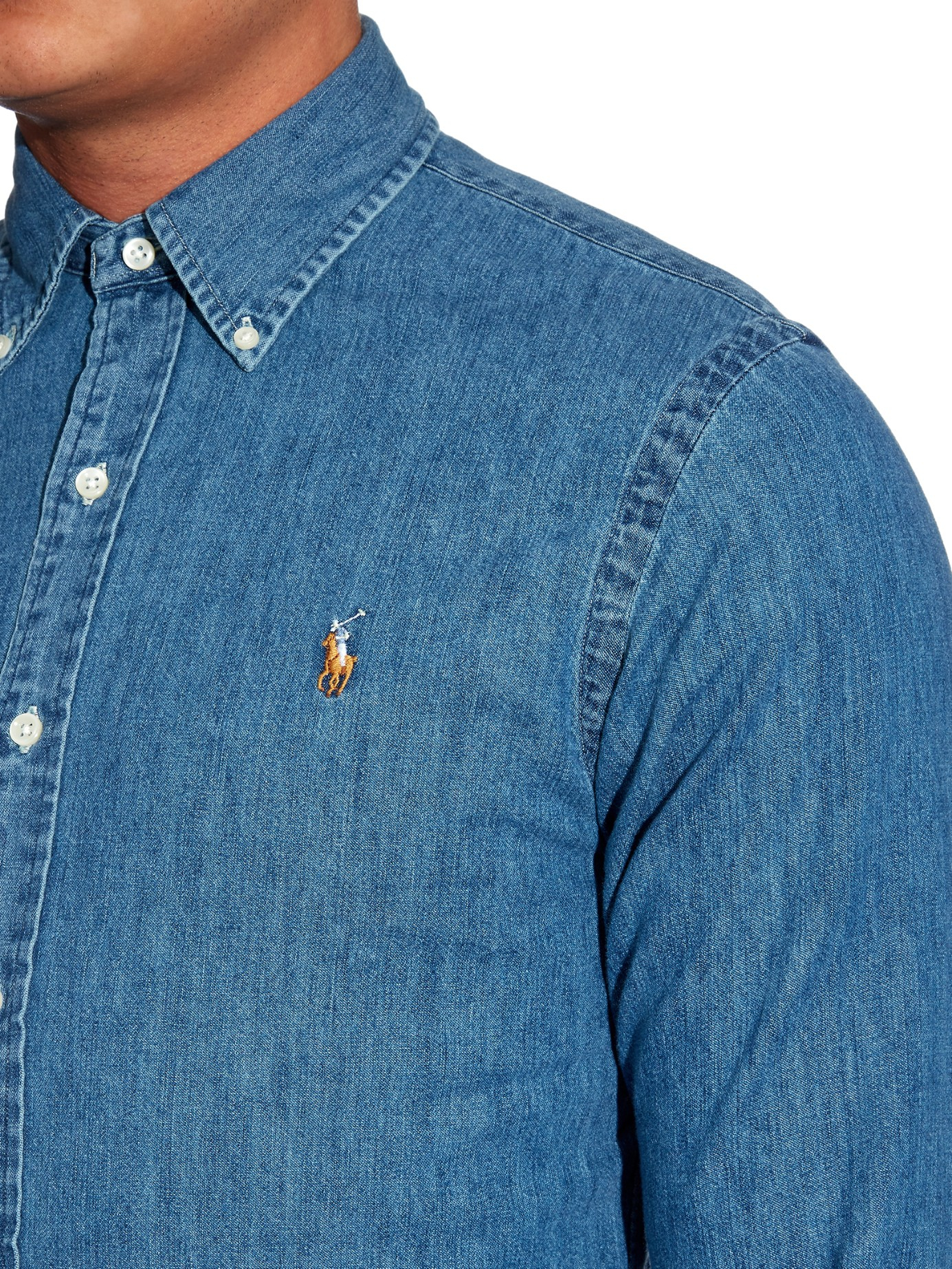 54babc61035 Polo Ralph Lauren - SLIM FIT - Shirt - dark wash · Gallery