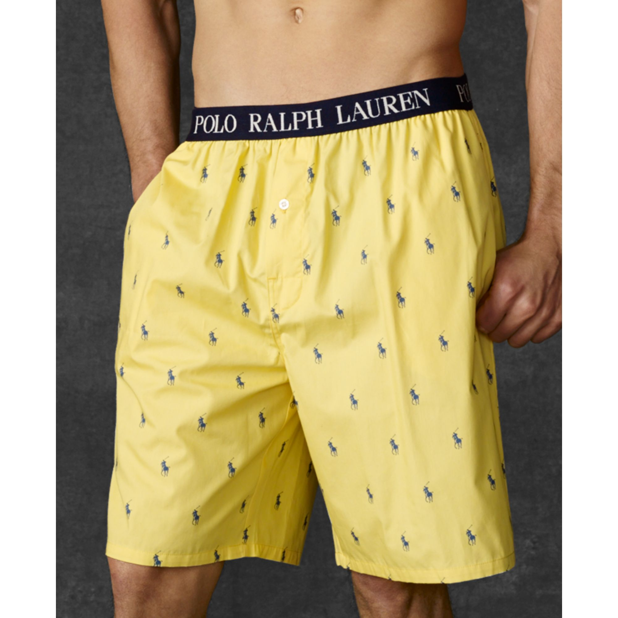791afa591b78 Lyst - Ralph Lauren Polo Mens Polo Player Pajama Shorts in Yellow ...