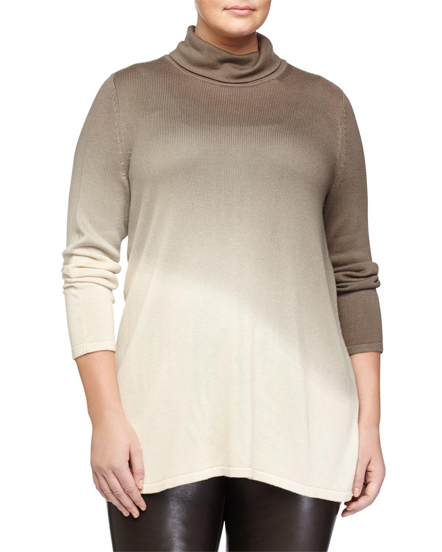 244a918d826 Marina Rinaldi Alto Ombre Turtleneck Sweater in Brown - Lyst