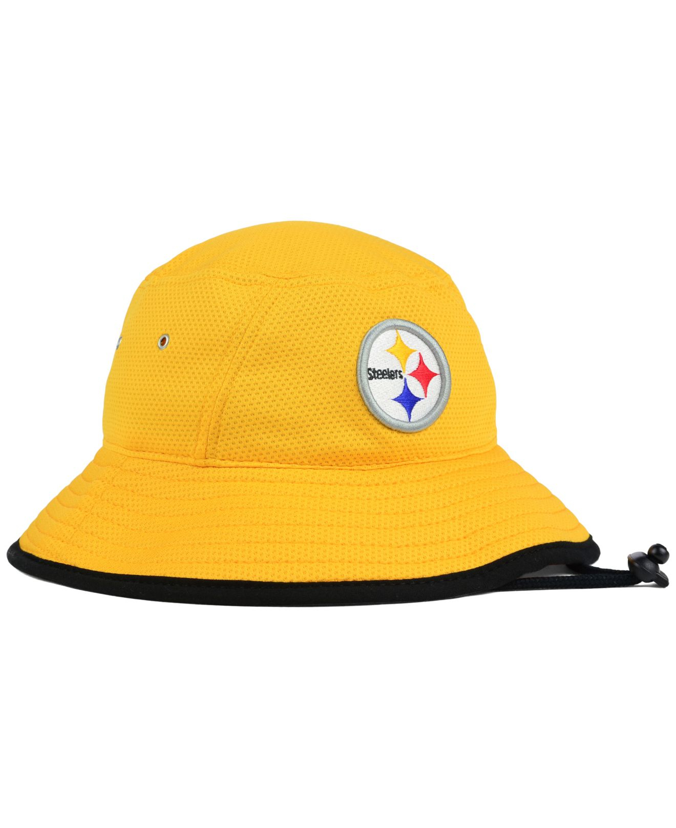 Lyst - KTZ Pittsburgh Steelers Training Bucket Hat in Yellow for Men 71873bdf6