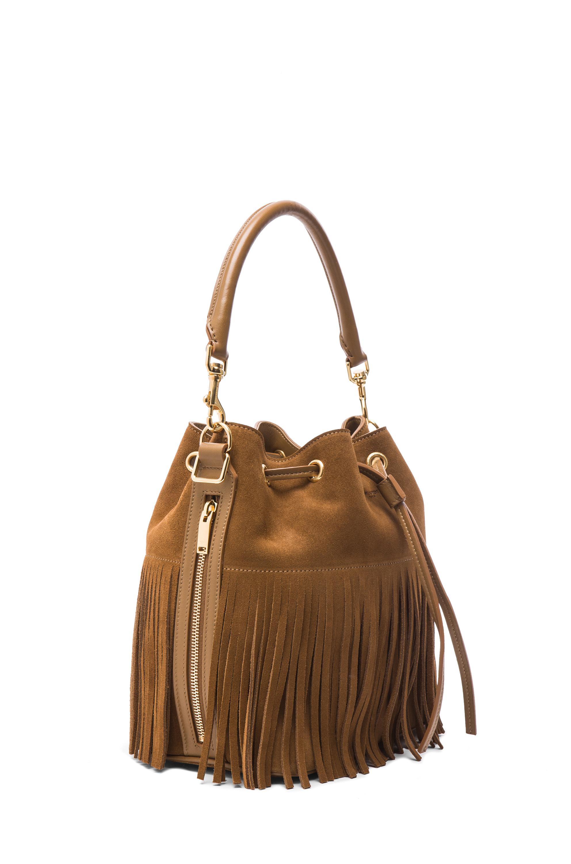 2abb82abd9 Saint laurent Medium Suede Fringe Emmanuelle Bucket Bag in Brown ...  emmanuelle small ...