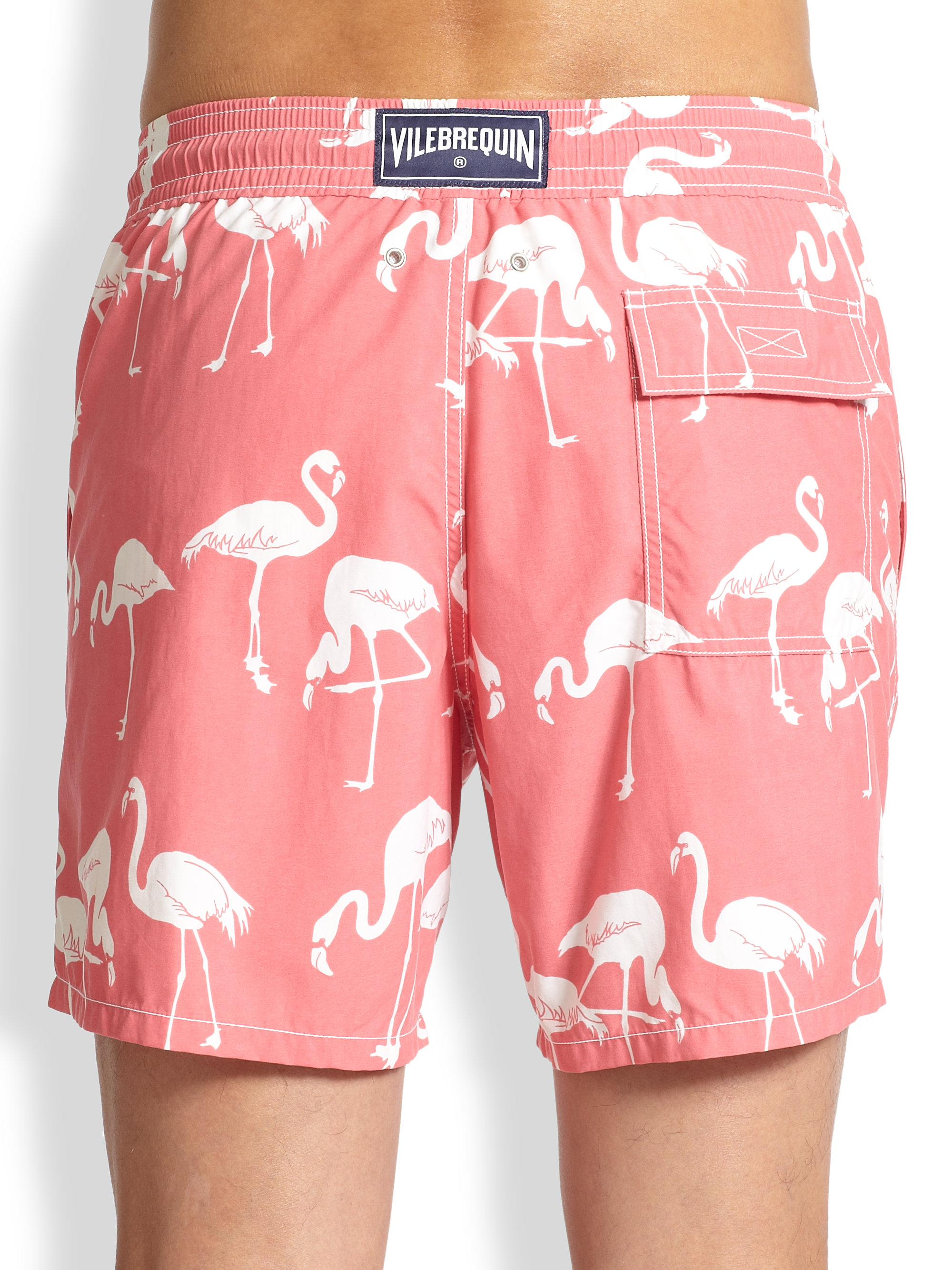 5e9a1e3ebf Lyst Vilebrequin Moorea Flamingo Swim Trunks In Pink For Men