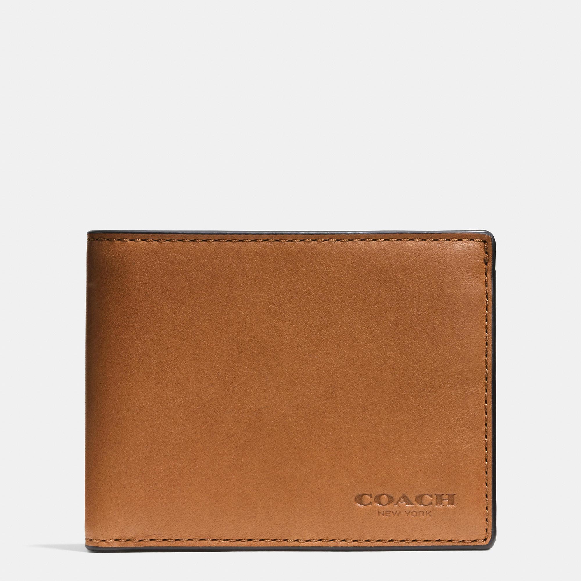 6643da4a175da ... official store lyst coach slim billfold id wallet in sport calf leather  for men 48a28 9dce9