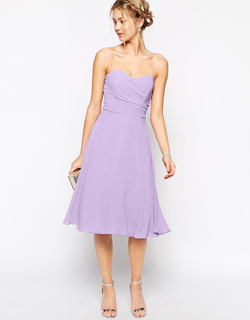 Lyst - Tfnc London Prom Midi Dress in Purple