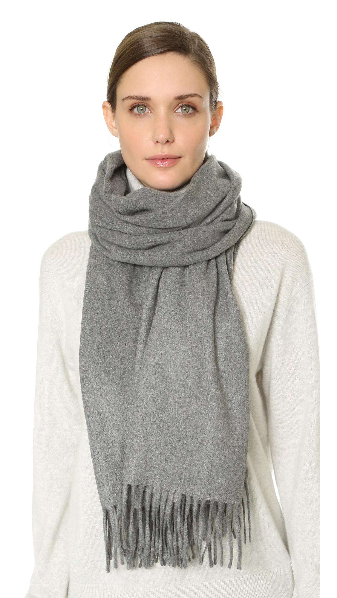 acne studios canada scarf navy in gray lyst