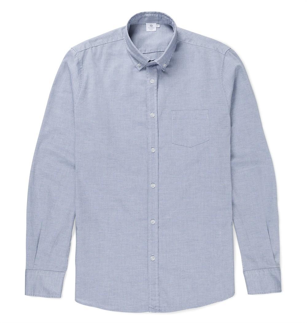 a68052e631ef Lyst - Sunspel Men s Oxford Cotton Shirt in Blue for Men
