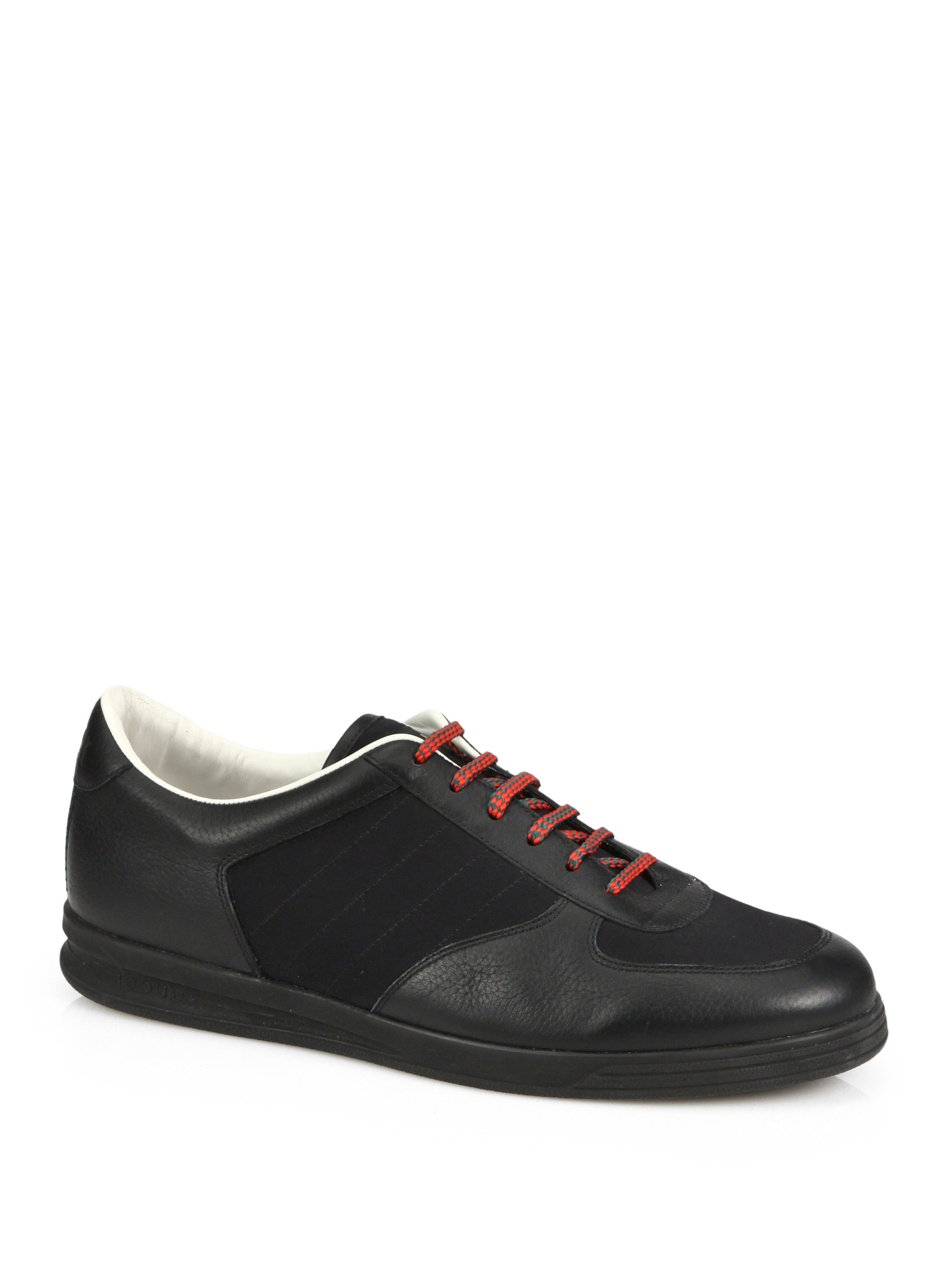 e5aff652614 Lyst - Gucci 1984 Leather Anniversary Sneakers in Black for Men