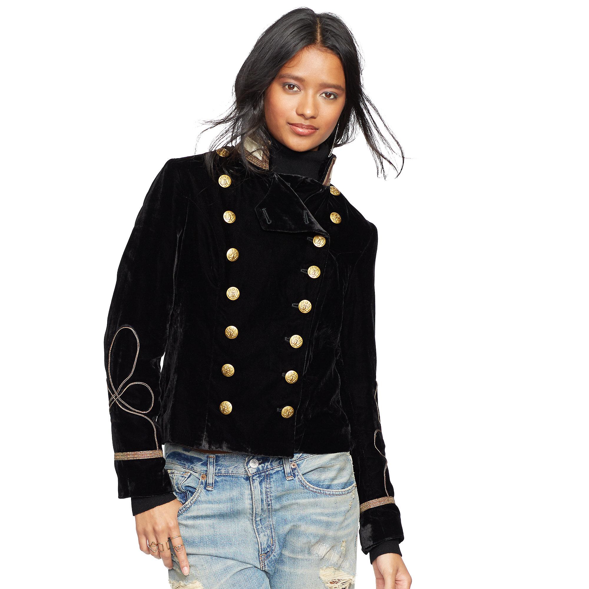 Denim  Supply Ralph Lauren Double-Breasted Velvet Jacket -7433