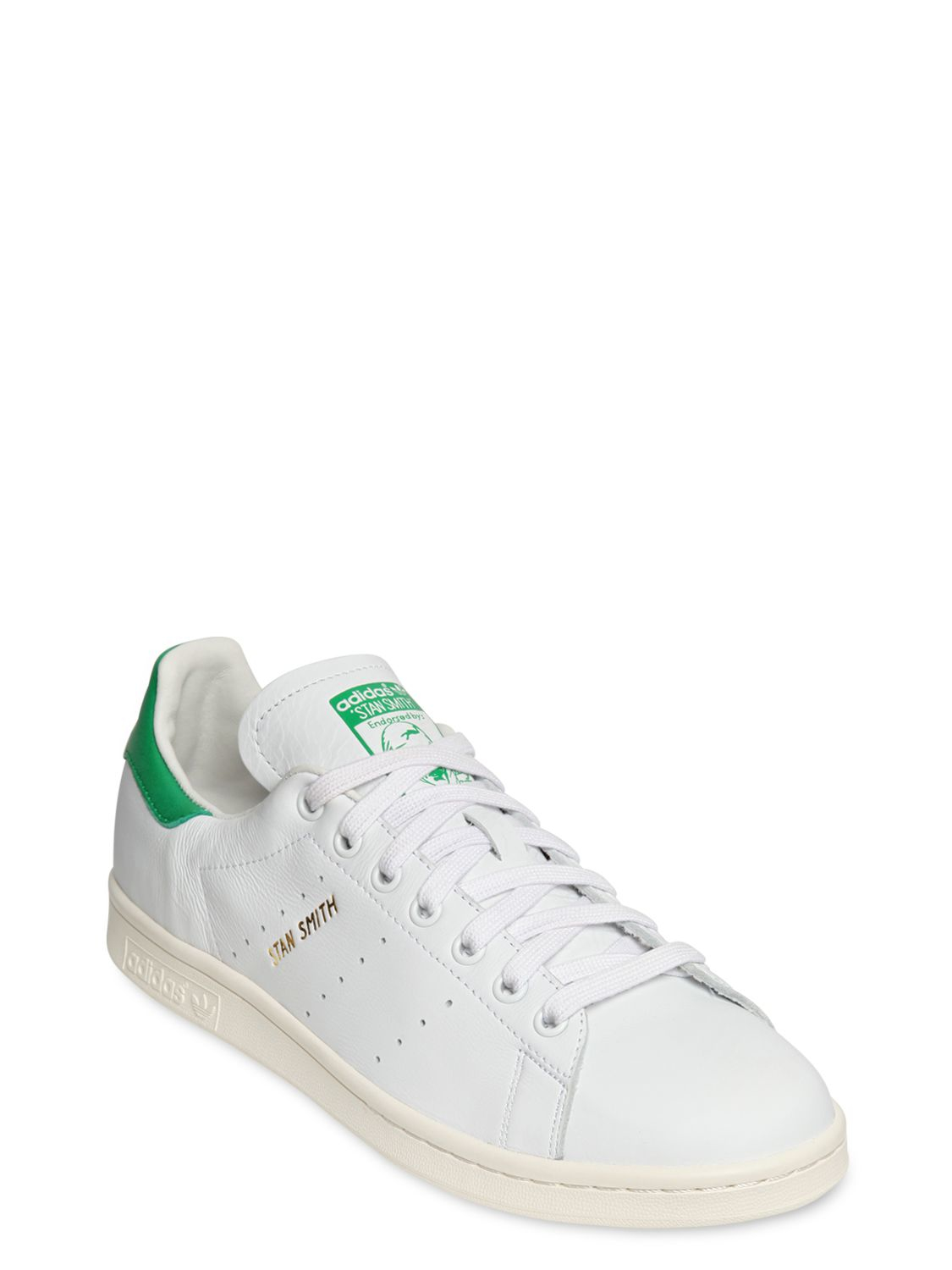 lyst adidas stan smith basket weave green in white for men. Black Bedroom Furniture Sets. Home Design Ideas
