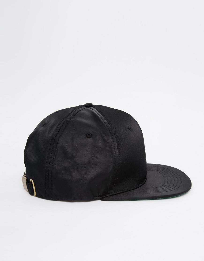 9db22d4c57b Lyst - ASOS Snapback Cap In Black With Satin Finish in Black for Men