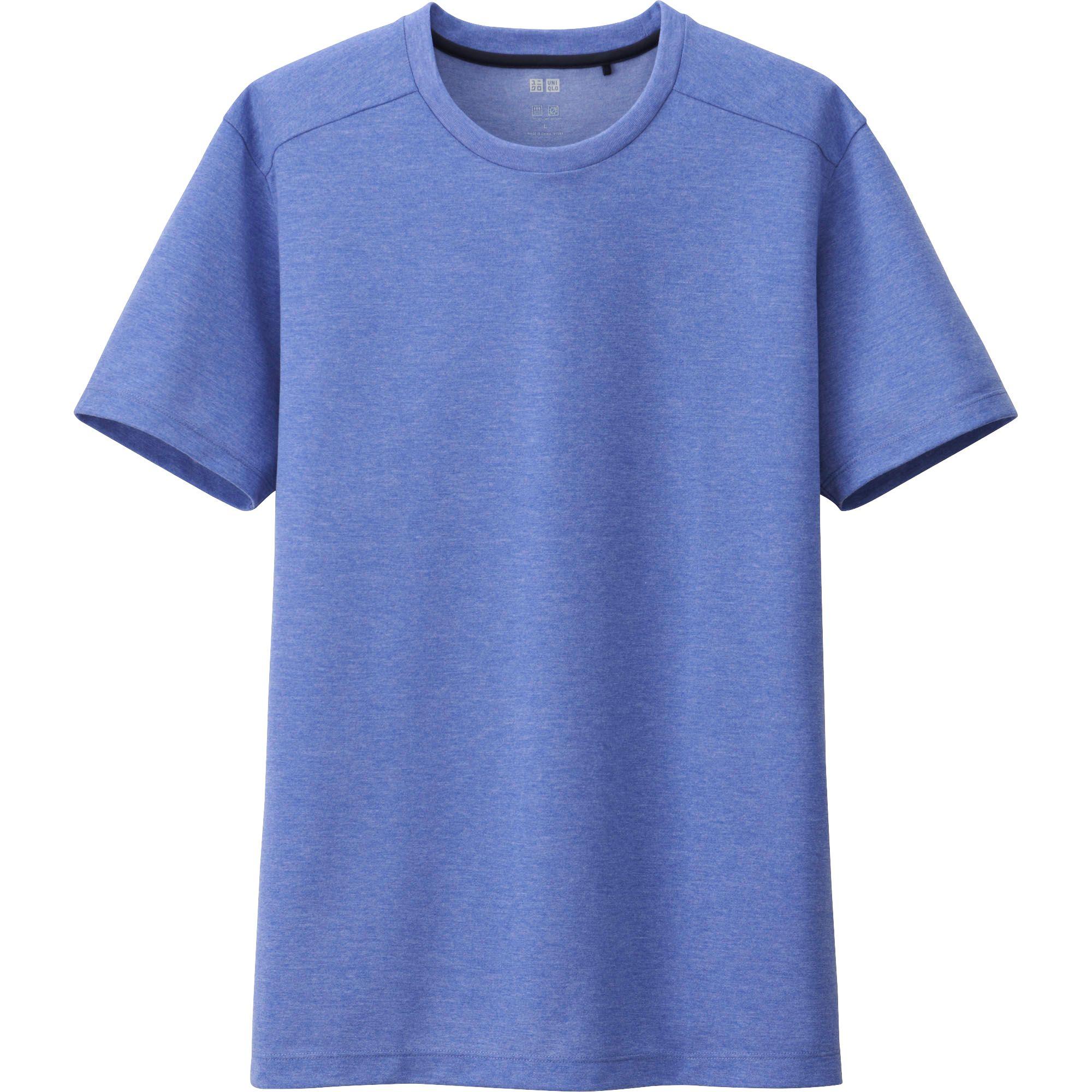 Uniqlo blue men dry ex crew neck short sleeve t shirt for Uniqlo t shirt sizing