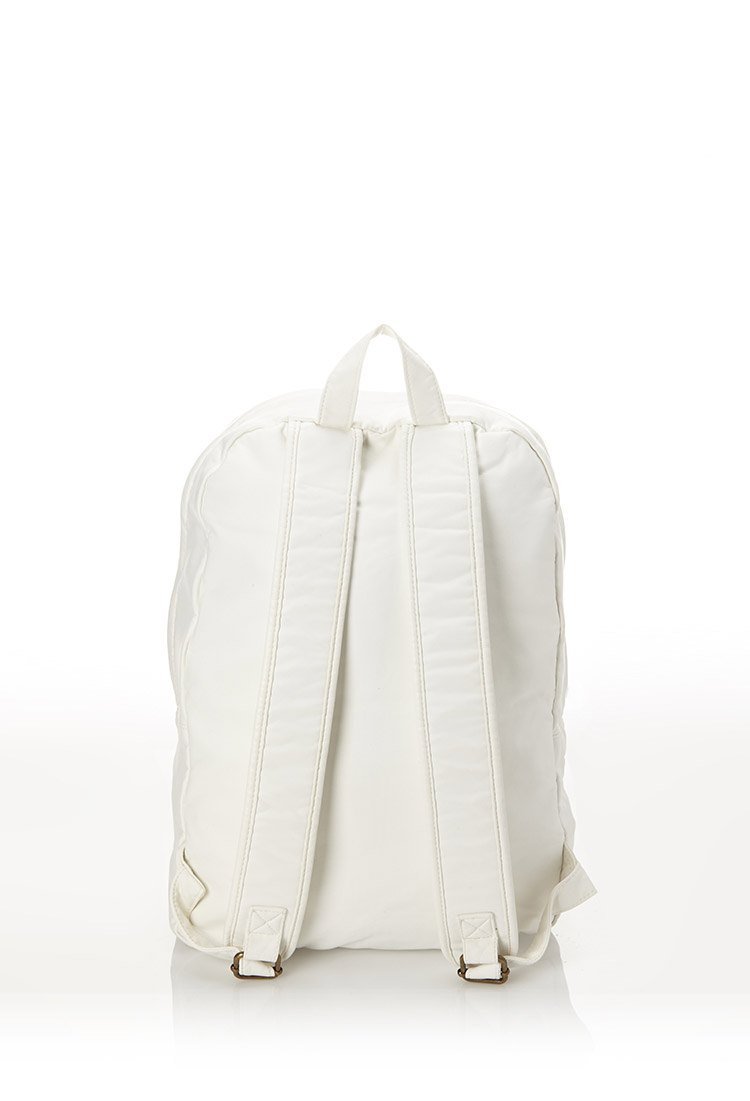 Lyst Forever 21 Faux Leather Backpack In White For Men
