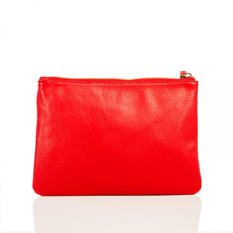 linea pelle large cosmetic bag in lyst
