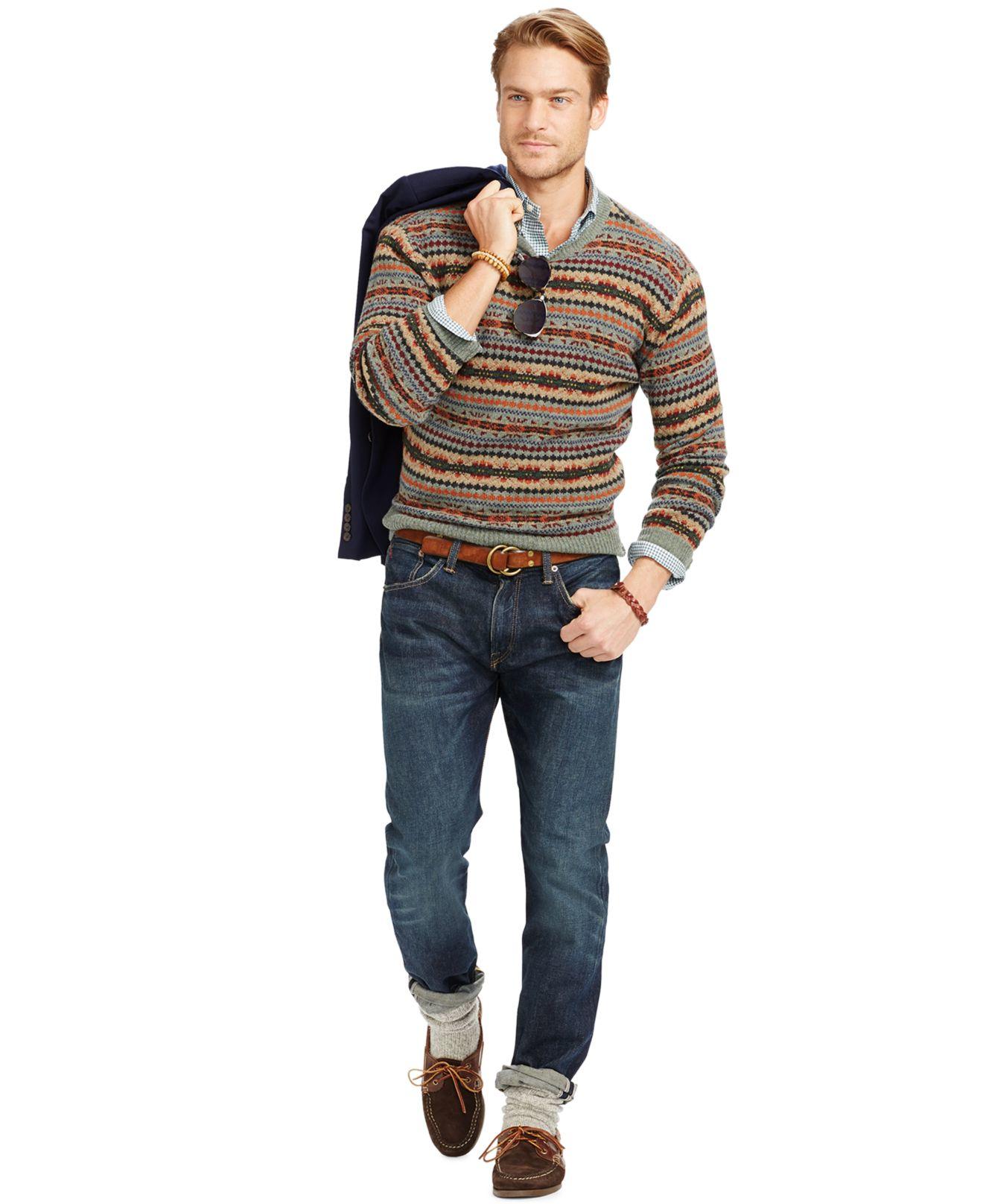 Polo ralph lauren Fair Isle Merino Wool Sweater for Men | Lyst