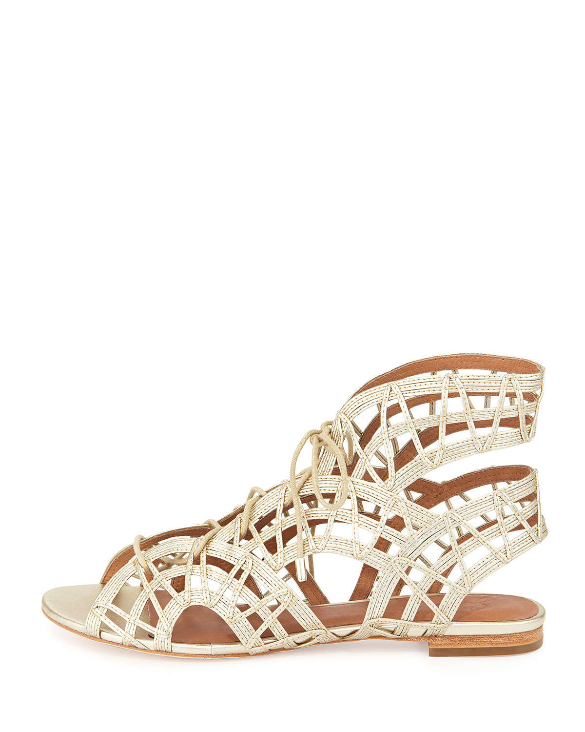 66f4d454dc84 Lyst - Joie Renee Lace-Up Gladiator Sandal in White
