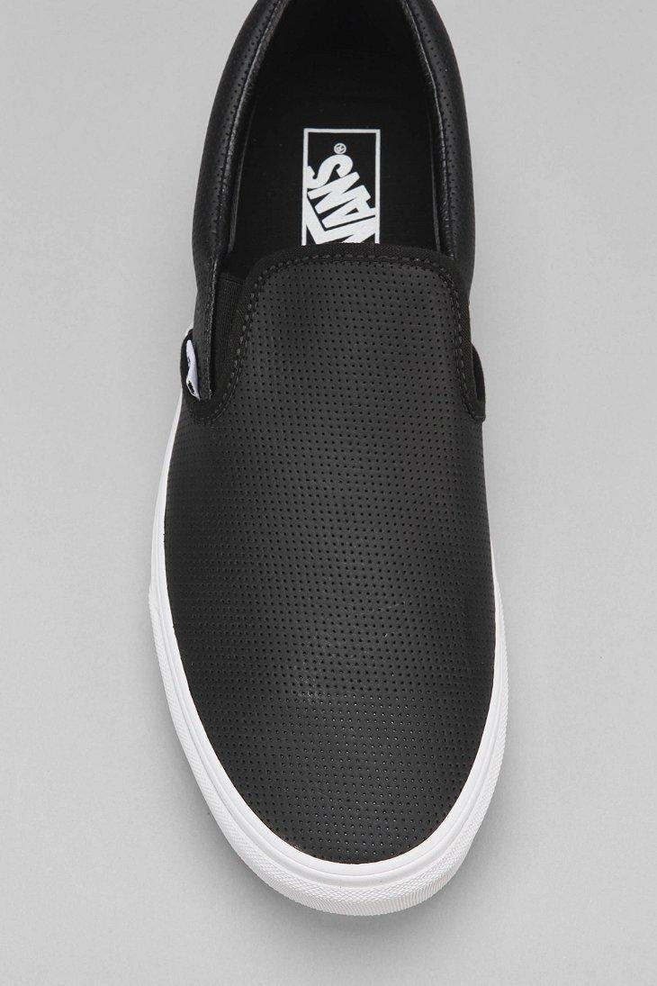 f8de36c7dcd Lyst - Vans Leather Slip-on Men s Sneaker in Black for Men