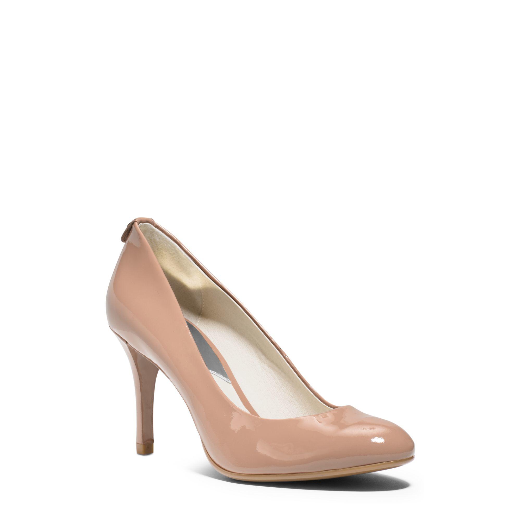 Lyst - Michael Kors Flex Patent-leather Mid-heel Pump in Pink