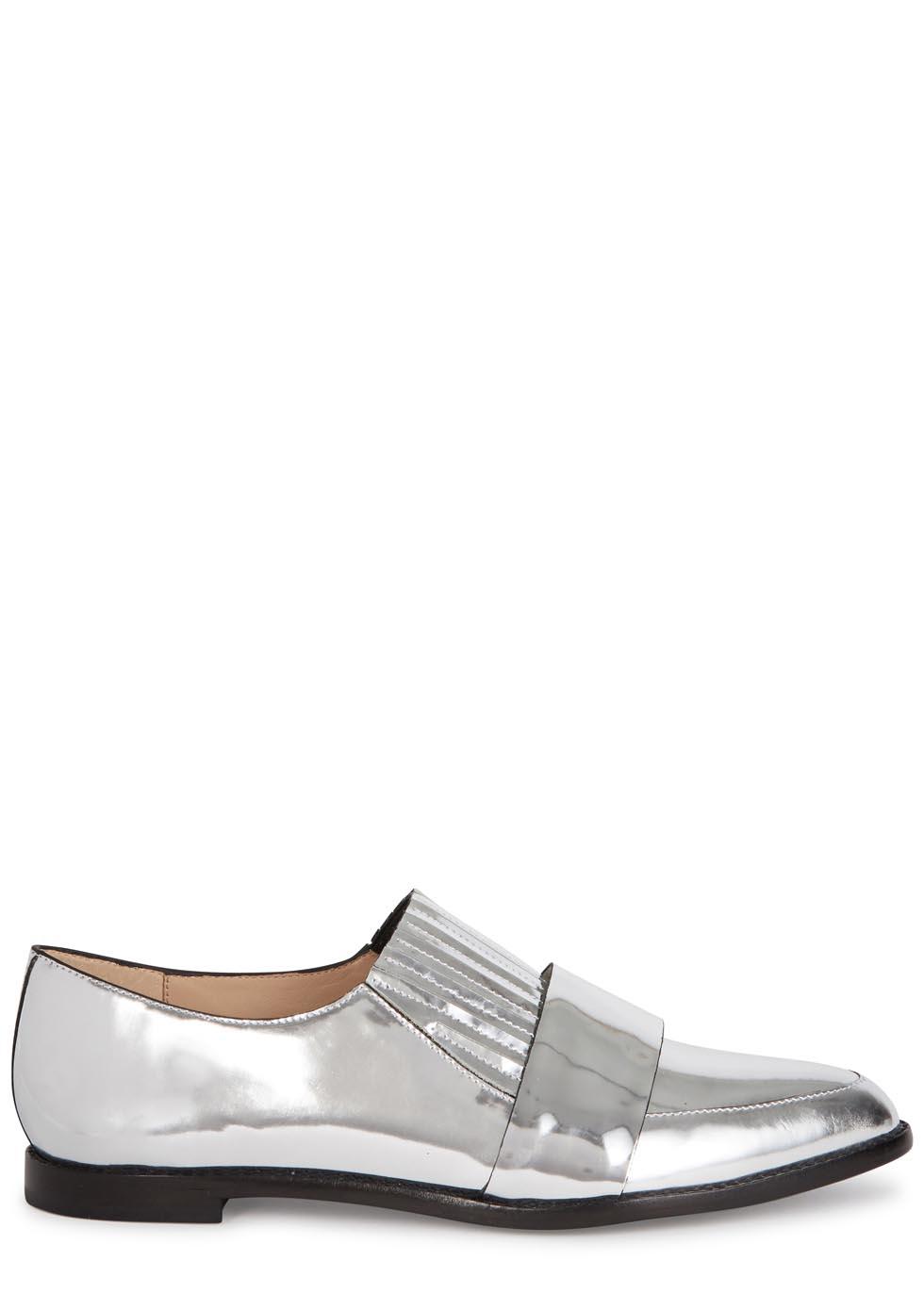 853949688e7 Loeffler Randall Rosa Silver Leather Loafers in Metallic - Lyst