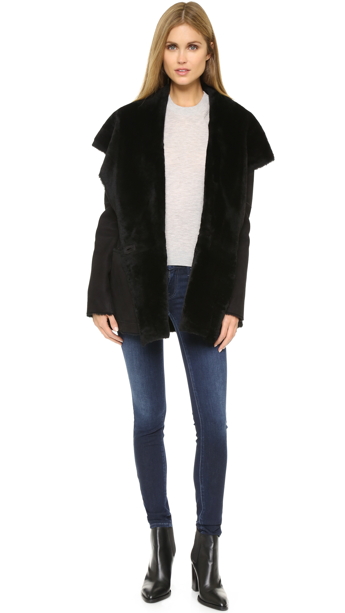 lux thunder drapes cashmere hooded dp vince coat in revolve drape cardigan