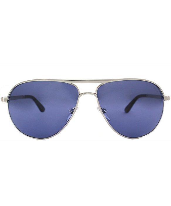 James Bond Tom Ford Sunglasses  tom ford tf144 marko 18v silver aviator sunglasses blue lens new