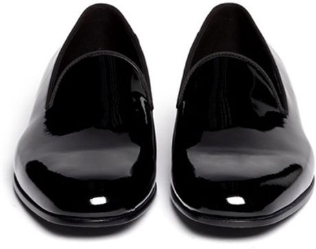 Giorgio Armani Patent Leather Smoking Shoes in Black for Men