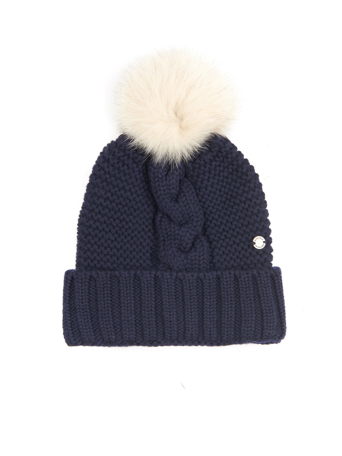 Lyst - Woolrich Serenity Cable-Knit Wool Beanie Hat in Blue c5ee068633d