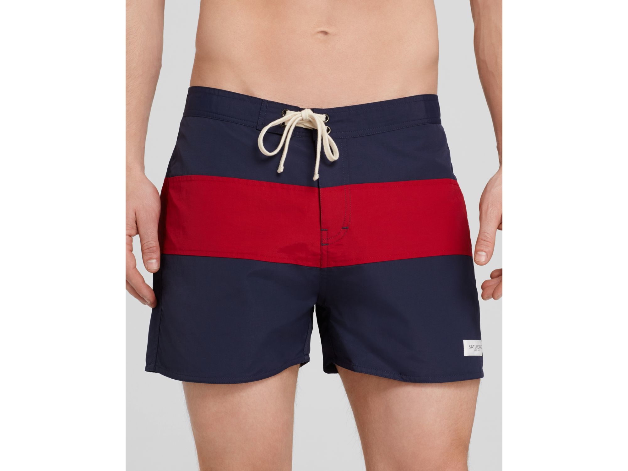 44987677e9 Saturdays NYC Grant Board Shorts in Blue for Men - Lyst