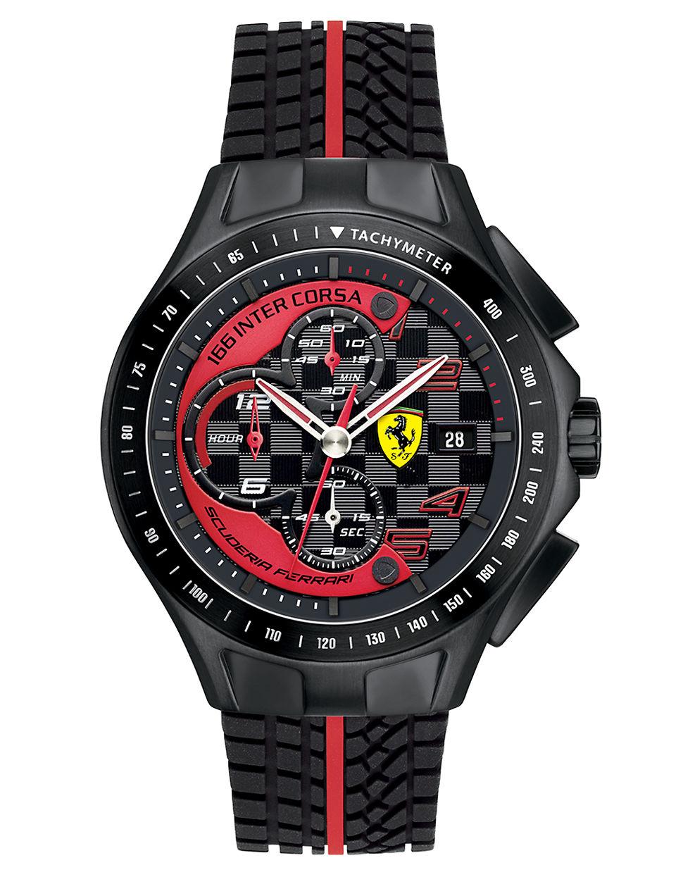 600e4d82d Lyst - Ferrari Men'S Race Day Black Chronograph Watch in Black for Men