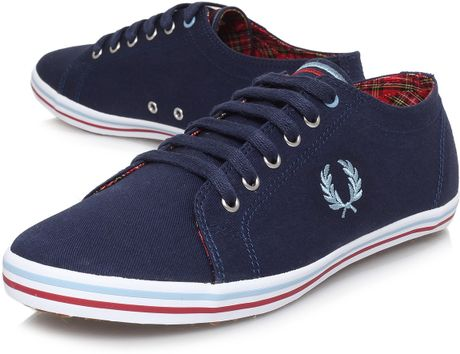 fred perry kingston plimmy in blue for men navy lyst. Black Bedroom Furniture Sets. Home Design Ideas