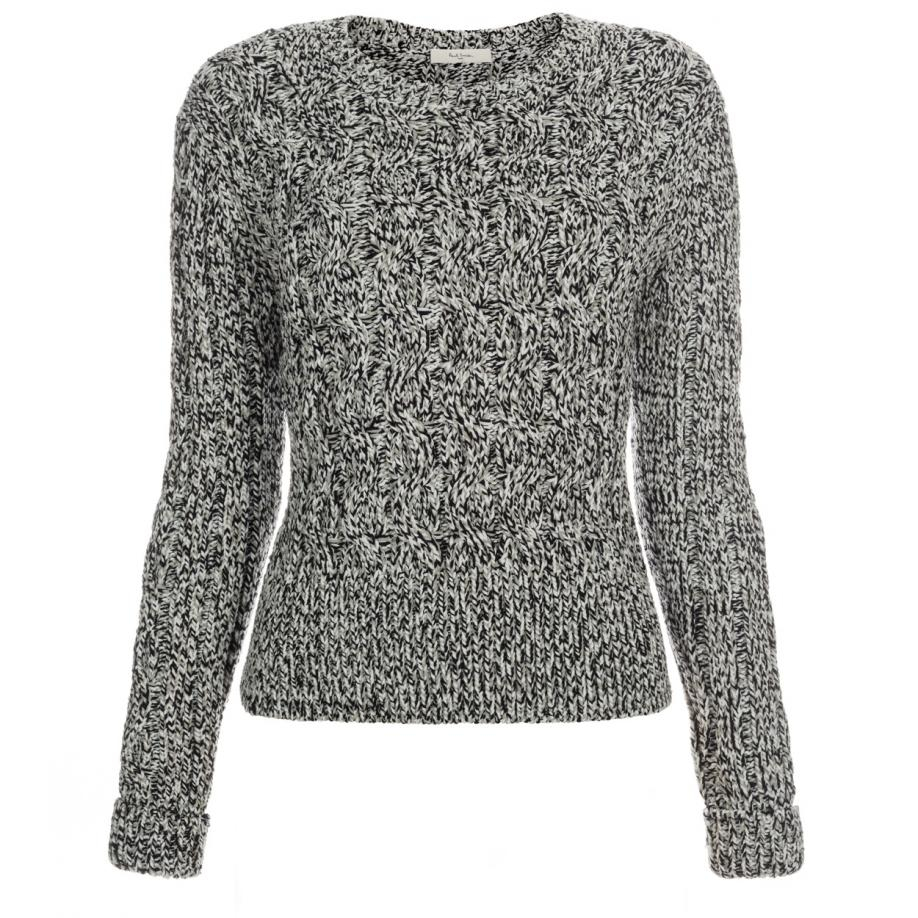 Paul smith Women's Grey Chunky Twisted Cable-knit Sweater in Gray ...