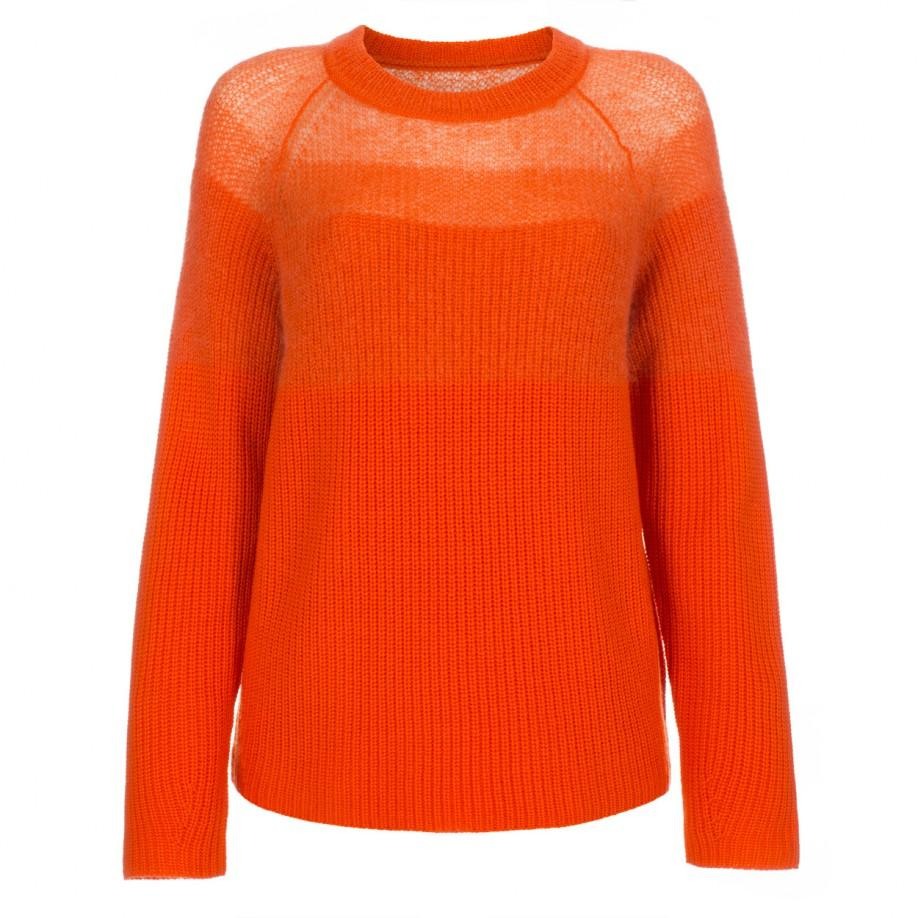Paul smith Women's Orange Merino Wool Sweater With Mohair Yoke in ...