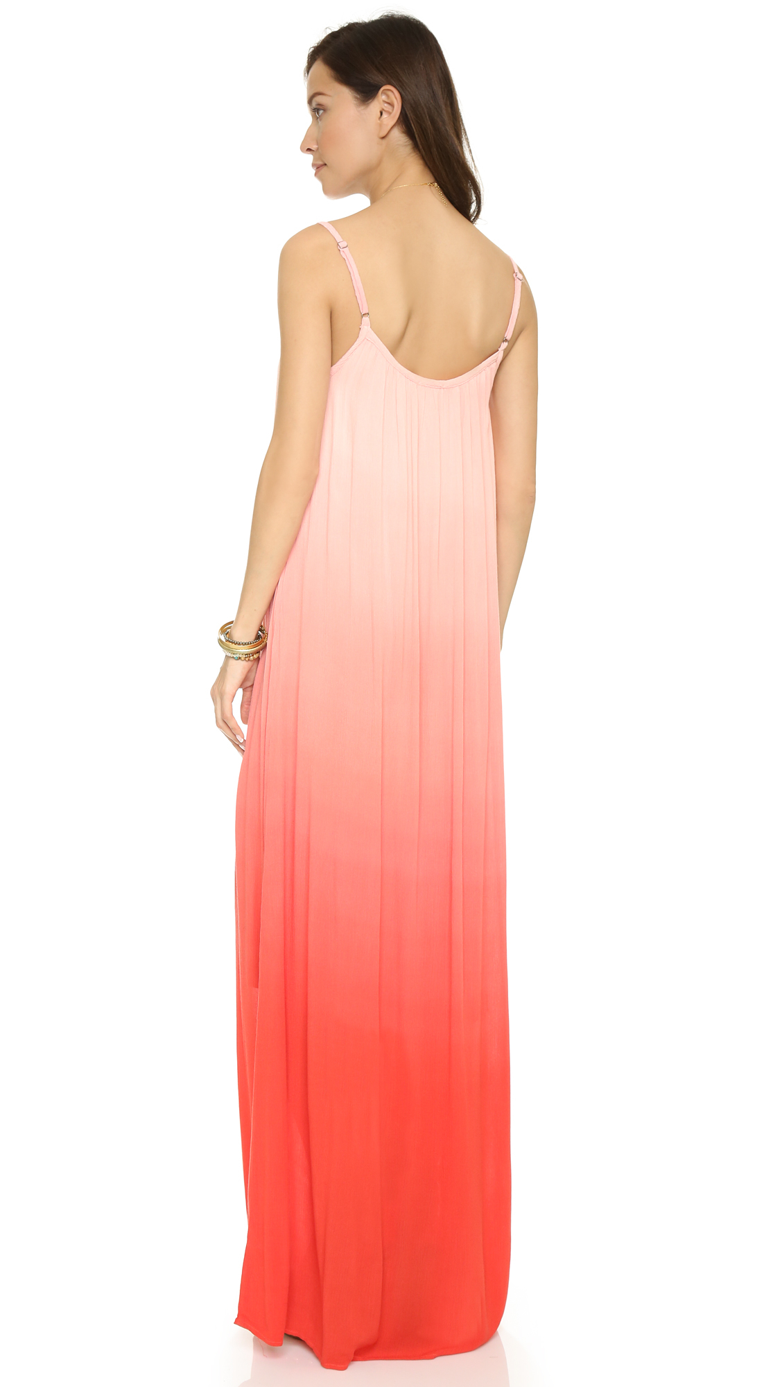 Poppy ombre jersey maxi dress